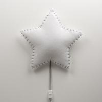 BUOKIDS Wandlampe Soft Stern, Grau