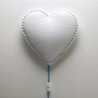 BUOKIDS Wandlampe Soft Herz, Blau