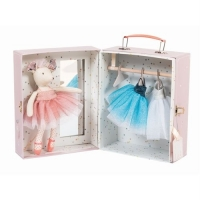 Moulin Roty Ballerina Maus im Koffer