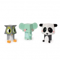 Mahattan Toy Mix and Match Stacker Panda Owl Elefant