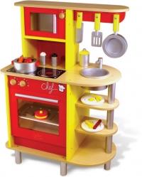 Vilac Spielküche aus Holz, Rot