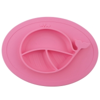 Milkii Silikon-Teller klein, Walfisch pink