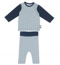 Snoozebaby Pyjama, Handstripe Indigo Blue