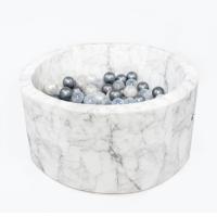 MISIOO Bällebad 90x40 cm, Marble Velour inkl. 200 Bälle