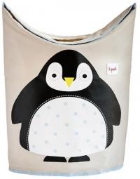 3 Sprouts Wäschekorb, Pinguin