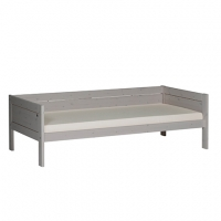 Lifetime Kidsrooms Basisbett 90x200cm mit Rückteil und Deluxe Lattenrost, Greywash