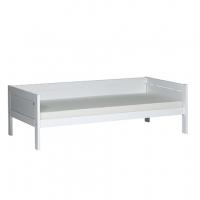 Lifetime Kidsrooms Basisbett 90x200cm mit Rückteil und Deluxe Lattenrost, Weiss lackiert