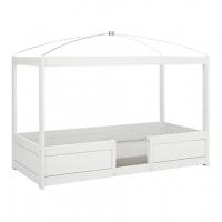 Lifetime Kidsrooms 4 in 1 Kinderbett 90x200cm mit Dachhimmel, Weiss lackiert