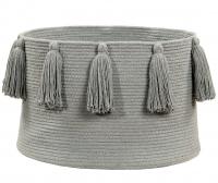 Lorena Canals Aufbewahrungskorb, Tassels Light Grey