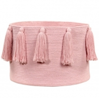 Lorena Canals Aufbewahrungskorb, Tassels Pink