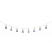 Lorena Canals Girlande Pom Pom Tie-Dye, Soft Blue