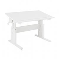 Lifetime Kidsrooms höhenverstellbarer Schreibtisch mit neigbarer Tischplatte, Weiss lackiert