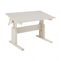 Lifetime Kidsrooms höhenverstellbarer Schreibtisch mit neigbarer Tischplatte, Whitewash