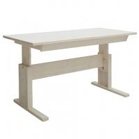 Lifetime Kidsrooms höhenverstellbarer Schreibtisch 140cm mit Schublade, Whitewash