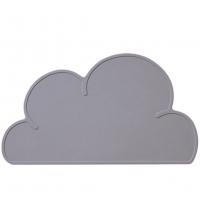 Silikon-Tischmatte Wolke, Grau