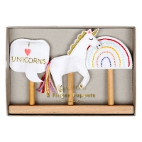 Mer Meri Fingerpuppen Set, Unicorn