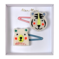 meri meri Filz Haarspangen, Bear & Tiger