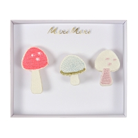 meri meri Broschen Set, Mushroom