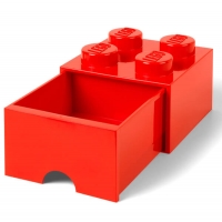 LEGO Drawer Brick 4, Aufbewahrungsbox, Rot