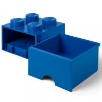 LEGO Drawer Brick 4, Aufbewahrungsbox, Blau