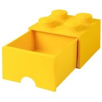 LEGO Drawer Brick 4, Aufbewahrungsbox, Gelb