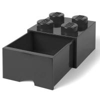 LEGO Drawer Brick 4, Aufbewahrungsbox, Schwarz