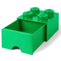 LEGO Drawer Brick 4, Aufbewahrungsbox, Dunkelgrün