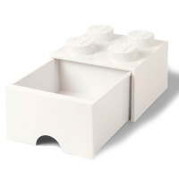 LEGO Drawer Brick 4, Aufbewahrungsbox, Weiss