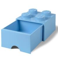 LEGO Drawer Brick 4, Aufbewahrungsbox, Hellblau