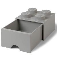 LEGO Drawer Brick 4, Aufbewahrungsbox, Grau