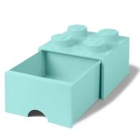 LEGO Drawer Brick 4, Aufbewahrungsbox, Aqua