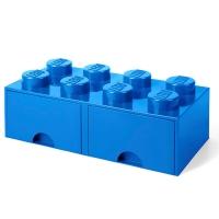 LEGO Drawer Brick 8, Aufbewahrungsbox, Blau