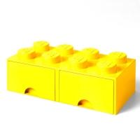 LEGO Drawer Brick 8, Aufbewahrungsbox, Gelb