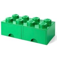 LEGO Drawer Brick 8, Aufbewahrungsbox, Dunkelgrün