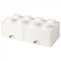 LEGO Drawer Brick 8, Aufbewahrungsbox, Weiss