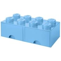 LEGO Drawer Brick 8, Aufbewahrungsbox, Hellblau