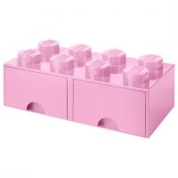 LEGO Drawer Brick 8, Aufbewahrungsbox, Rosa