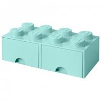 LEGO Drawer Brick 8, Aufbewahrungsbox, Aqua
