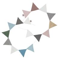 Sebra doppelseitige Wimpelgirlande, Pflaume/ Königsblau