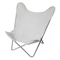 Sebra Schmetterling Lounge Stuhl, grau