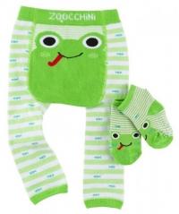 Zoocchini Baby Leggins & Socken Set, Flippy der Frosch