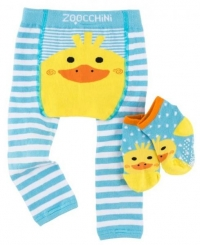 Zoocchini Baby Leggins & Socken Set, Puddles die Ente
