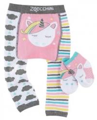 Zoocchini Baby Leggins & Socken Set, Alle das Einhorn
