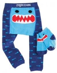 Zoocchini Baby Leggins & Socken Set, Sherman der Hai