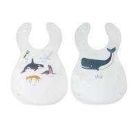 Sebra Kunststoff Lätzchen, 2er Pack, Arctic Animals