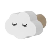 Bloomingville Mini Wandhaken MDF, Wolke weiss