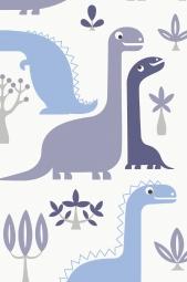 JacknRose Tapeten Dino Bleu