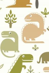 JacknRose Tapeten Dino Vert