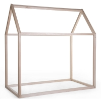 Childhome Hausbett Rahmen, Holz Natur, 70x140cm