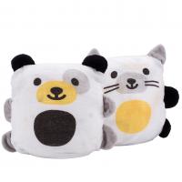 UBBI Snuggle Up 2-in-1 Musselin-Decke-Kumpel, 2er Set - Hund + Katze